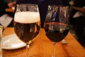 ビールとワイン