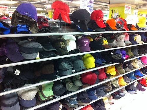 半端ない品揃えの帽子