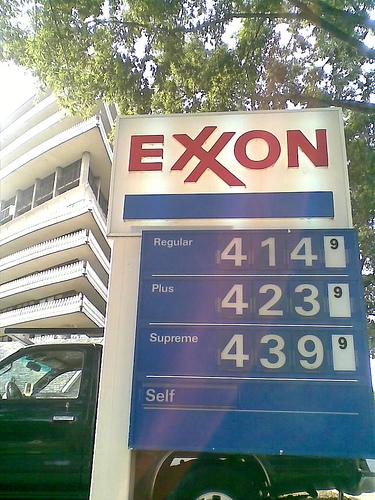 ガソリンの価格表