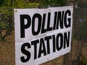外国の投票所