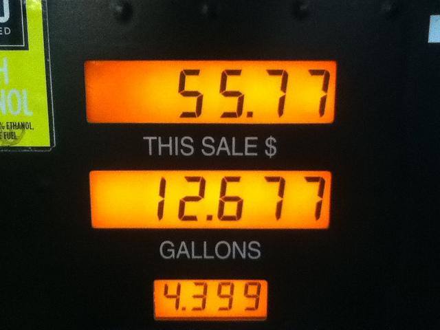 ガソリンスタンドの価格