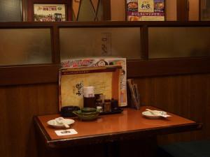 和民のテーブル席