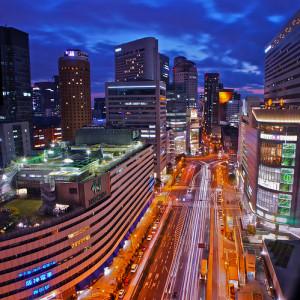 梅田の繁華街