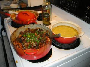 Poulet Provincale with Polenta home cuisine