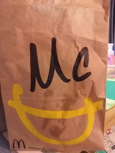 Mcdonald's  lovely paper bag